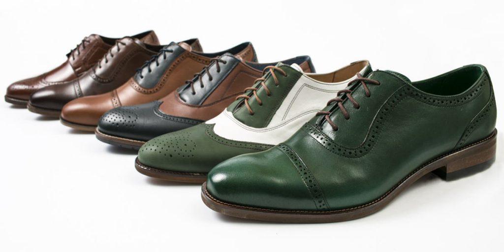 Eleganckie skórzane buty męski